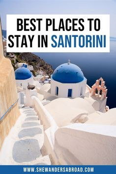 Looking for the best places to stay in Santorini? No need to look further! Here are the best towns to stay in Santorini with hotel recommendations for each town! | Santorini travel tips | Greece travel tips |Where to stay in Santorini | Santorini Greece honeymoon | Santorini honeymoon hotels |Santorini villas | Santorini hotels with private pool | Best places to stay in Santorini for couples |Luxury hotels in Santorini | Oia hotels |Fira hotels |Imerovigli hotels | Santorini on a budget Santorini Honeymoon, Santorini Villas, Greece Honeymoon, Santorini Travel, Honeymoon Hotels, Santorini Greece, Travelling Europe, Europe Travel Guide, Iceland Travel