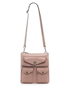 Women's Desert rose Satchels & Crossbody Bags SULLY Strap View | RUDSAK