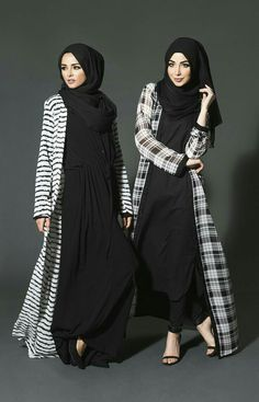 Modest way of wearing hijab with kimono – Girls Hijab Style & Hijab Fashion Ideas Hijab Fashion 2016, Abaya Fashion, Kimono Fashion, Modest Fashion, Fashion Outfits, Fashion 2018, Trendy Fashion, Fashion Ideas, Hijab Outfit