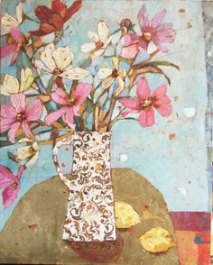 Sally Anne Fitter : Cosmos on a Gold Table