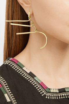 Aurélie Bidermann | Vera gold-plated earrings | NET-A-PORTER.COM