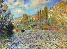 1879 Claude Monet The Seine at Vetheuil