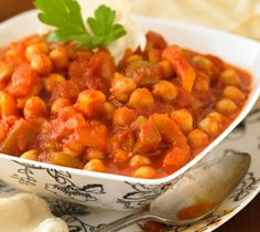 Had this at my Aunt and Uncles and now it's a favorite. Chickpea Stew