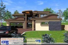 Modern House Plans, House Floor Plans, Dream Homes, My Dream Home, 6 Bedroom House Plans, Unique House Design, Site Plans, Garage Plans, House Architecture