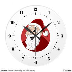 Santa Claus Cartoon Clock