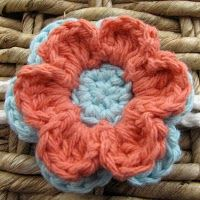 crochet flower. 