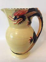 Burleigh Ware Art Deco Black Dragon Large Jug
