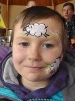 Image result for sheep face paint
