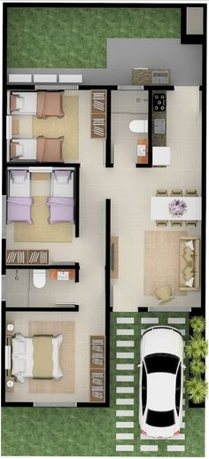 Trendy Home Living Room Small Tiny House 70 Ideas Modern House Plans, Small House Plans, House Floor Plans, Small Tiny House, Small House Design, House Plans 3 Bedroom, Casas Containers, House Front Door, Front Doors
