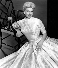 1956  Doris Day in silk dress