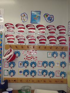 Dr. Seuss birthday hats and job chart