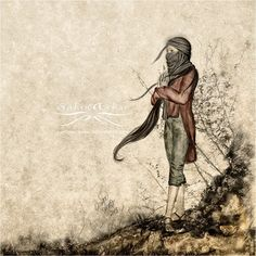 silence Art, Digital Art, Humanoid Sketch