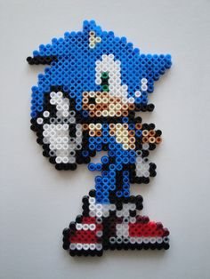 Sonic Hama bead sprite by rinoaff10 on deviantart