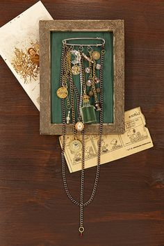 Mixed Media Bohemian CHARM  BROOCH NECKLACE with Vintage by RUPHUS https://www.etsy.com/it/shop/RUPHUS