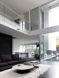 Sleek living room interior by Steve Domoney Architecture
