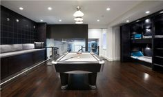 home billiards room with black design