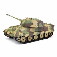 Shopping Henglong German Tiger King Henschel Rc Battle Tank Smoking Sound Plastic One Toys Online - RCBuying Sierra Leone, Montenegro, Belize, Ghana, Rc Tank, Sri Lanka, Nepal, Camo, Cook Islands