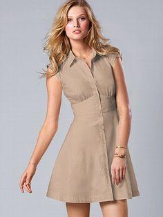 NEW! Sheer-panel Shirtdress #VictoriasSecret http://www.victoriassecret.com/clothing/spring-dresses/sheer-panel-shirtdress?ProductID=90628=OLS?cm_mmc=pinterest-_-product-_-x-_-x