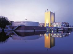 The Groninger Museum, most of it is below waterlevel I was told! One of the greatest architectural buildings ever, great exhibitions too, check it out!