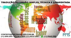 A PMS Traduções trabalho com tradução juramentada, legendagem, interpretação simultânea, interpretação consecutiva, transcrição de áudio de vídeo, digitação e tradução de textos acadêmicos e outros, revisão, acompanhamento em viagens de negócios ou lazer, localização, treinamento para tradutores, e muito mais.  ... Site: www.pmstraducoes.com.br E-mail: contato@pmstraducoes.com.br (11) 3090-2455 / (11) 95727-2655 (17) 3013-9599 / (17) 99645-2988