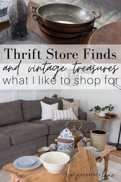 It's been a while since I shared a good home decor haul, and this one is filled with both thrift store finds and vintage treasures!