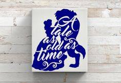 Tale As Old As Time-Beauty And The Beast-Disney Princess-Belle-VInyl Decal-Iron…