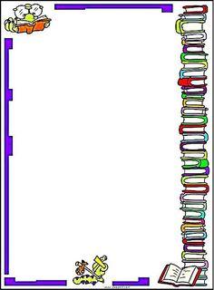 bordas com desenhos de livros - Pesquisa Google