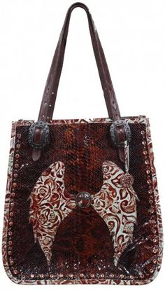 c151ba5c30 Turquoise Eagle and Brown Snake Doctor s Bag - DB14 Leather Totes