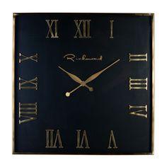 Ceas de perete patrat Richmond Derial H 76cm Richmond Interiors, Aluminium, Clock, Retro, Home Decor, Vintage, Products, Model, Pointers