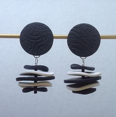 Sara Earring by Klara Borbas: Polymer Clay Earrings available at www.artfulhome.com