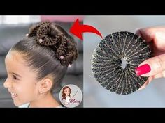 Como Hacer una Dona Para Cabello ¡Super Facil! - YouTube Sporty Hairstyles, Kids Braided Hairstyles, Braided Hairstyles Updo, Cute Hairstyles, Wedding Hairstyles, Updo Hairstyle, Braided Updo, Cute Little Girl Hairstyles, Flower Girl Hairstyles