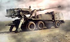 The Atmos 2000 155mm self-propelled howitzer artillery system.