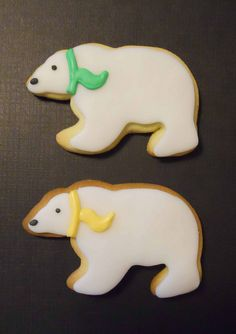 polar bear cookies (add coconut for extra cuteness!)