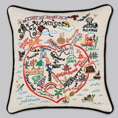 I've always loved these 'place' pillows. So fun for a guest room bed :)