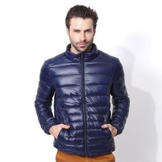 69aec1c006a1 Ultra Light Sylish Mens Goose Down Jacket  fashion  clothing  shoes   accessories