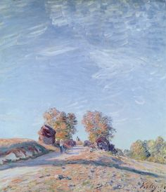 Hill Path in Sunlight, 1892. Alfred Sisley