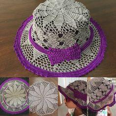 Crochet cap pattern - summer hat - PART 3