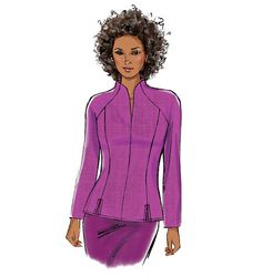 A personal favorite from my Etsy shop https://www.etsy.com/listing/218134319/butterick-pattern-b6134-misses-tops