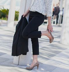 9840a0e0727ea Black Yoga pants that are work appropriate made to look like dress pants  Yoga Pants For