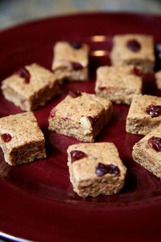 Vegan, Protein-Packed Chunks of Energy Recipe | POPSUGAR Fitness - Recipe calls for cherries but I will probably use cranberries instead