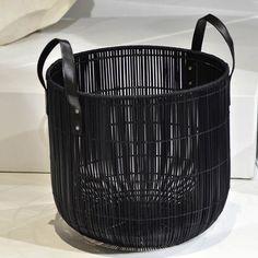 'pandora' basket in black by stanley ruiz