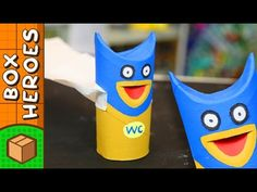 Toilet Man to the rescue! Toilet Man is the first in this new series of toilet roll heroes. Diy For Men, Diy For Kids, Crafts For Kids, Paper Roll Crafts, Diy Paper, Craft Box, Diy Box, Toilet, Youtube