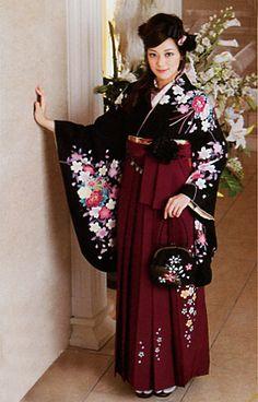 Hakama kimono for young lady.