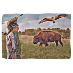 Native American kitchen towel