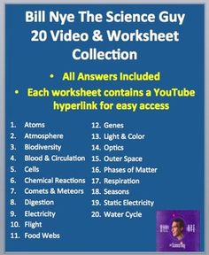 bill nye bill o 39 brien and worksheets on pinterest. Black Bedroom Furniture Sets. Home Design Ideas