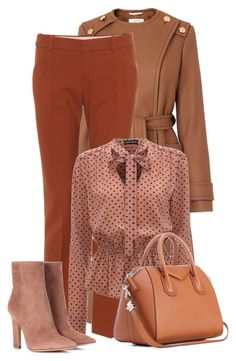 """""""Wear It in Brown"""" by bliznec ❤ liked on Polyvore featuring L.K.Bennett, Chloé, Gianvito Rossi and Givenchy"""