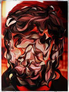 The cut-out portraits of Brazilian artist Lucas Simões