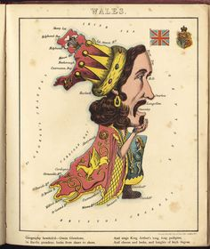 Geographical Fun | William Harvey Wales map, 1869