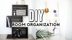 DIY Room Decor & Organization for 2017! Mini Organization Ladder, Shift Shelf, Clear Labeled Containers, Faux Concrete Tray