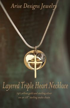 Layered Triple Heart Necklace